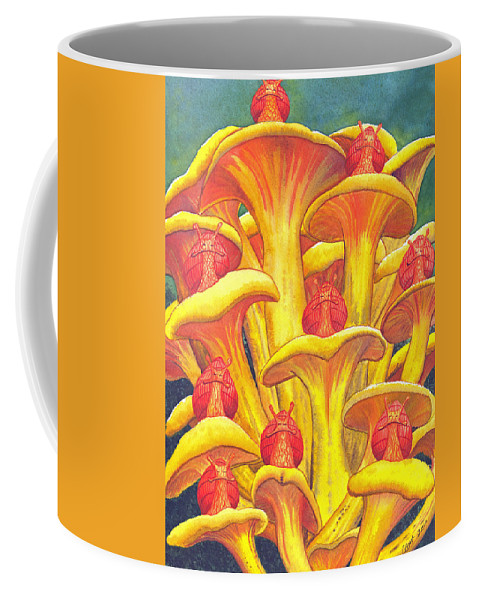 Snails Coffee Mug featuring the painting Ohmm by Catherine G McElroy