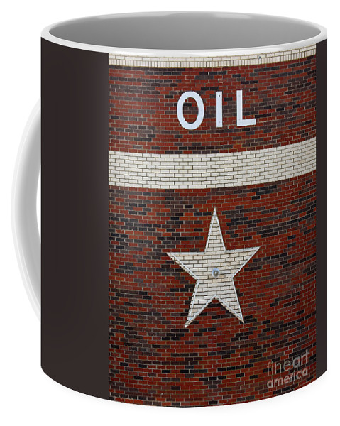 Oil Coffee Mug featuring the photograph Oil And Texas Star Sign by Catherine Sherman
