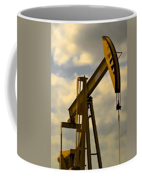Oil Coffee Mug featuring the photograph Oil Pumpjack II by Ricky Barnard