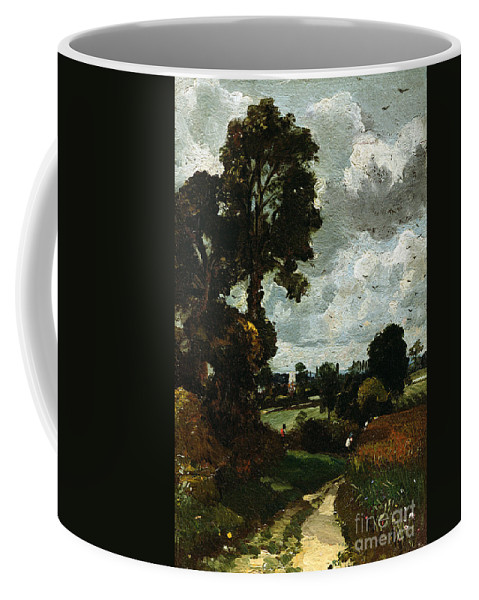 Oil Coffee Mug featuring the painting Oil Sketch Of Stoke-by-nayland by John Constable