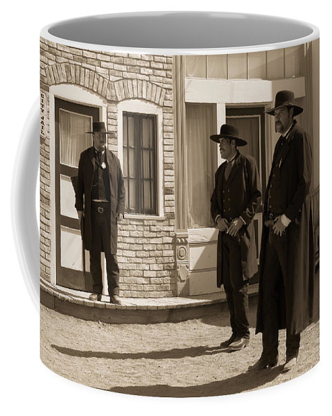 Ok Corral Coffee Mug featuring the photograph Ok Corral by Jim Cole