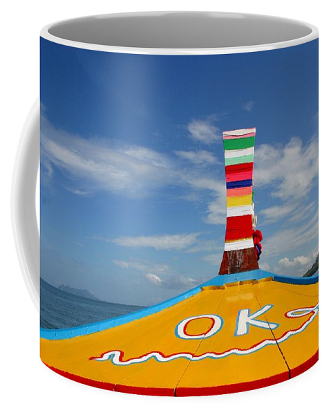 Coffee Mug featuring the photograph Okay In Thailand by Minaz Jantz