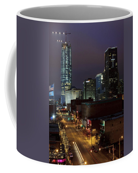 Oklahoma Coffee Mug featuring the photograph Okc Evening by Ricky Barnard