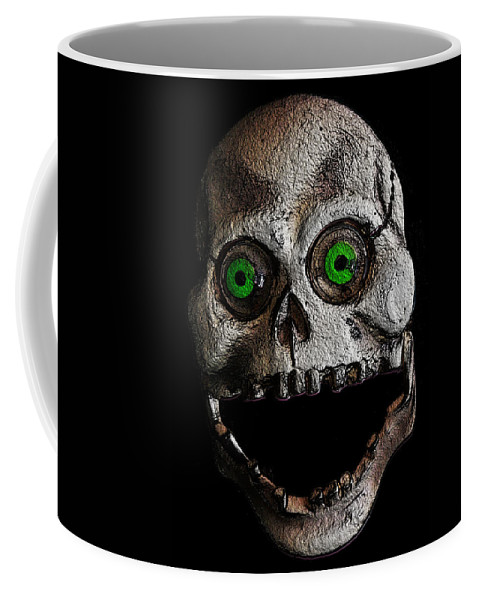 Digital Coffee Mug featuring the digital art Ol' Wooden Skull by Steven Scanlon