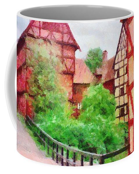 Aarhus Coffee Mug featuring the painting Old Aarhus by Jeffrey Kolker
