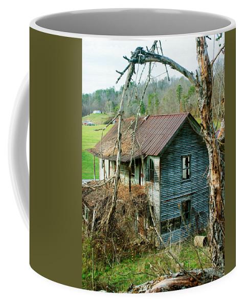 Farm Coffee Mug featuring the photograph Old Abandoned Rural Hose by Douglas Barnett