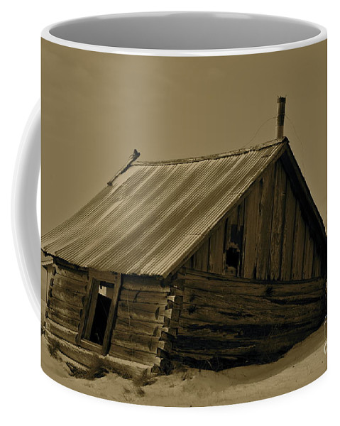 Log Home Coffee Mug featuring the photograph Old Age by Rick Monyahan