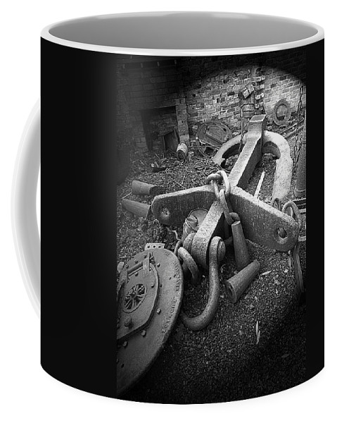 Cast Iron Coffee Mug featuring the photograph Old Anchor by Bob Kemp