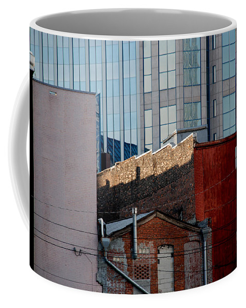 Nashville Coffee Mug featuring the photograph Old And New Close Together by Susanne Van Hulst