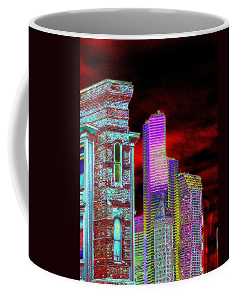 Seattle Coffee Mug featuring the digital art Old And New Seattle by Tim Allen