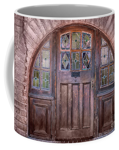 Southwest Coffee Mug featuring the photograph Old Arched Doorway-tucson by Sandra Bronstein