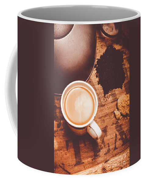 Old Coffee Mug featuring the photograph Old Artistic Vintage Tea Still Life by Jorgo Photography - Wall Art Gallery