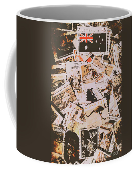 Australia Coffee Mug featuring the photograph Old Australia In Stamps by Jorgo Photography - Wall Art Gallery