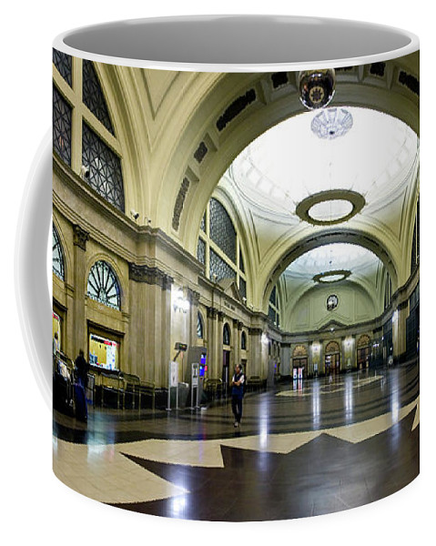 Photography Coffee Mug featuring the photograph Old Barcelona Train Station by Frederic A Reinecke