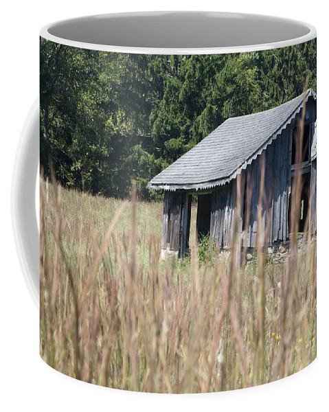 Barn Coffee Mug featuring the photograph Old Barn by Steven Natanson