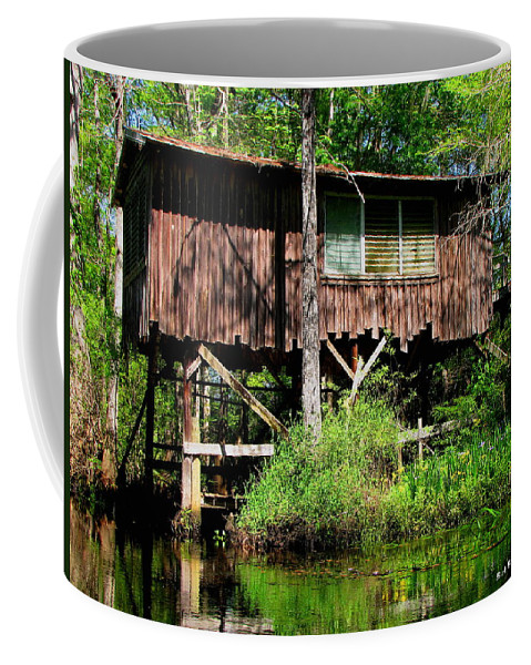 Old Boat House Coffee Mug featuring the photograph Old Boat House by Barbara Bowen