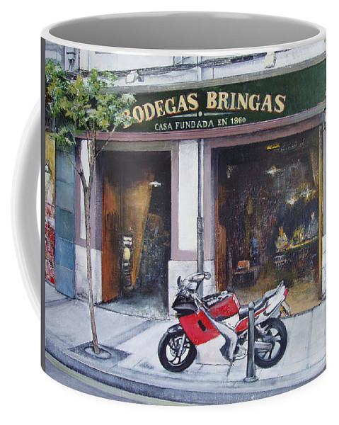 Bodegas Bringas Coffee Mug featuring the painting Old bodegas Bringas by Tomas Castano