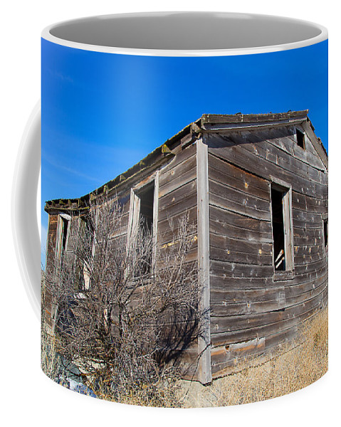 Cabin Coffee Mug featuring the photograph Old Cabin in Idaho, USA by Dart Humeston