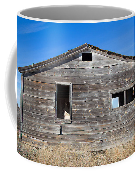 Cabin Coffee Mug featuring the photograph Old Cabin in Idaho, USA by Dart Suze Humeston