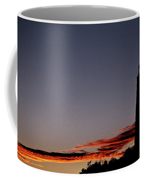 Lighthouses Coffee Mug featuring the photograph Old Cape Henry Sunrise by Skip Willits