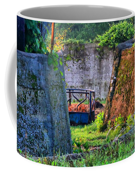 Walls Coffee Mug featuring the photograph Old Cement Walls by Kathryn Meyer