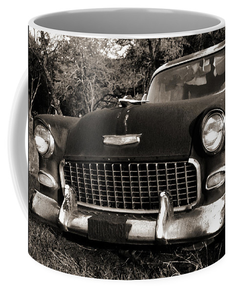 Americana Coffee Mug featuring the photograph Old Chevy by Marilyn Hunt