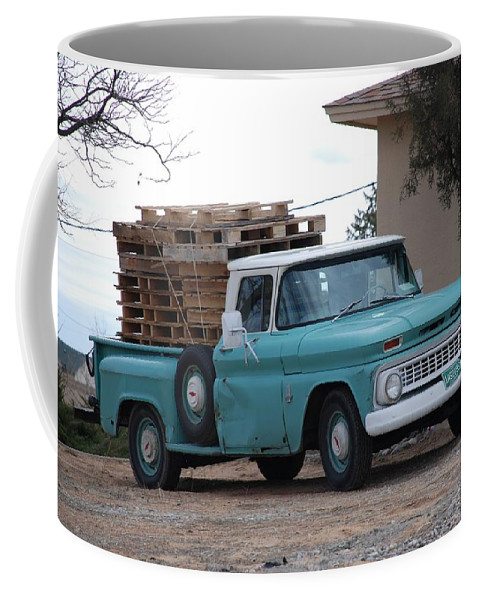 Old Truck Coffee Mug featuring the photograph Old Chevy by Rob Hans