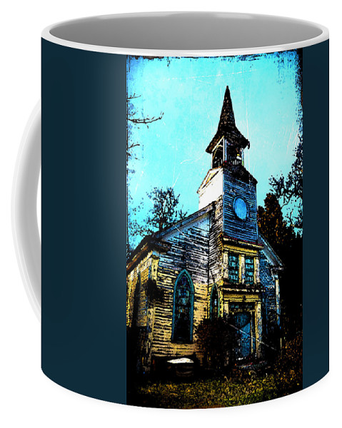 Church Coffee Mug featuring the photograph Old Church At Oxford Maryland by Bill Cannon