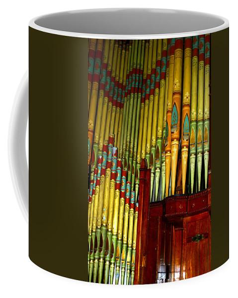 Organ Coffee Mug featuring the photograph Old Church Organ by Anthony Jones