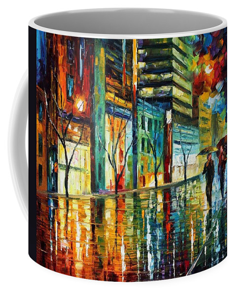 Afremov Coffee Mug featuring the painting Old City by Leonid Afremov