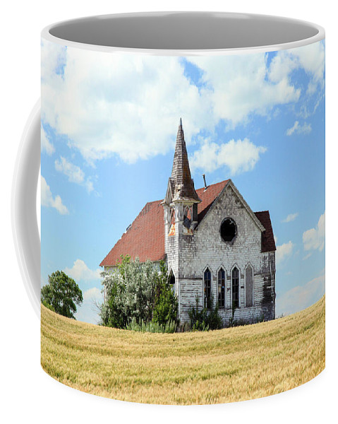 Old Buildings Coffee Mug featuring the photograph Old Country Church by Bruce Nikle