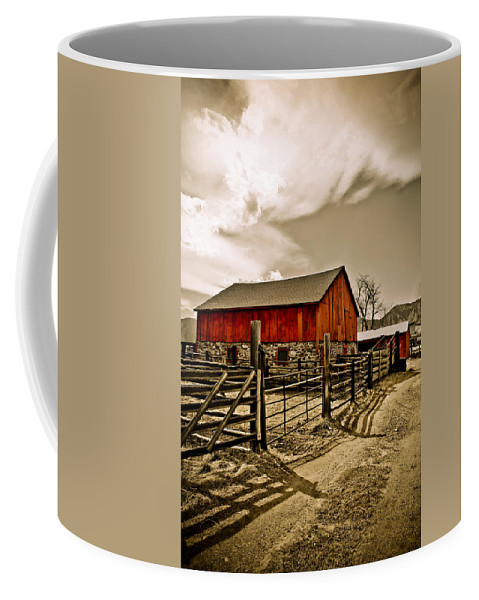 Americana Coffee Mug featuring the photograph Old Country Farm by Marilyn Hunt
