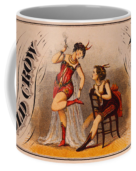 Old Coffee Mug featuring the digital art Old Crow Whiskey by Bill Cannon