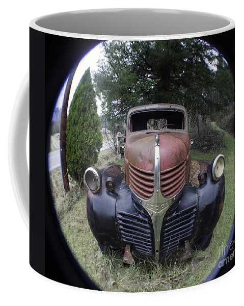 Art Coffee Mug featuring the photograph Old Dodge Truck by Clayton Bruster
