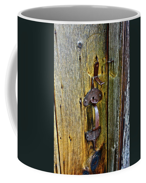 Antique Coffee Mug featuring the photograph Old Door by Diana Hatcher