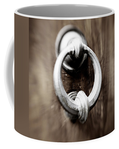 Home Coffee Mug featuring the photograph old Door Knocker by Marilyn Hunt