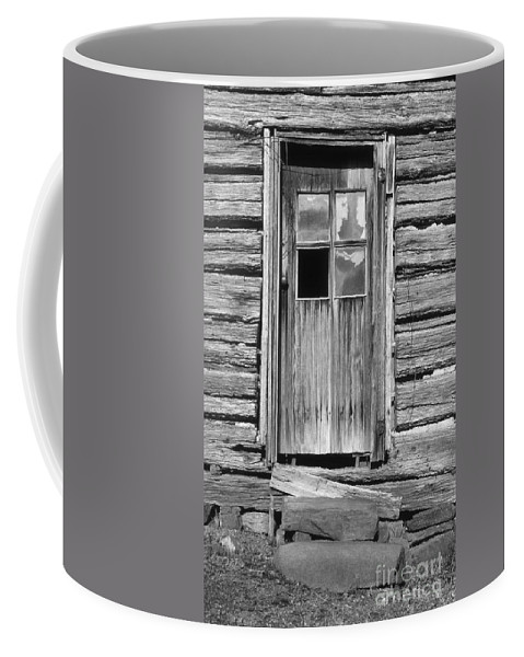 Aged Coffee Mug featuring the photograph Old Door by Richard Rizzo