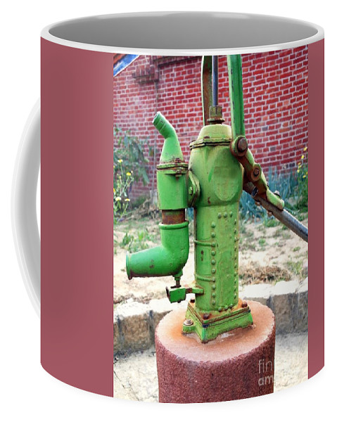 Pump Coffee Mug featuring the photograph Old-fashioned Pitcher Pump by Yali Shi