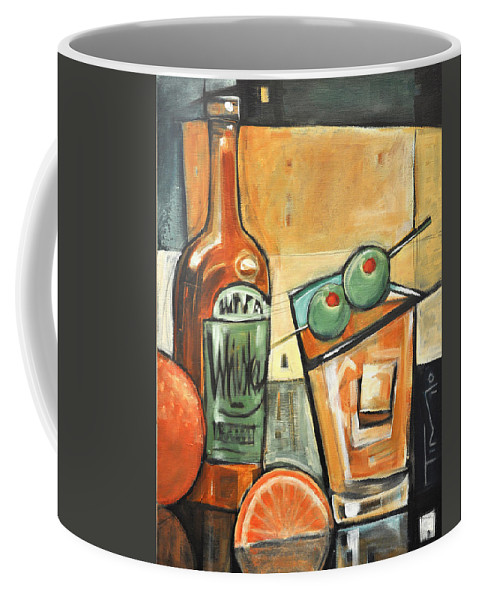 Olives Coffee Mug featuring the painting Old Fashioned Sweet With Olives by Tim Nyberg