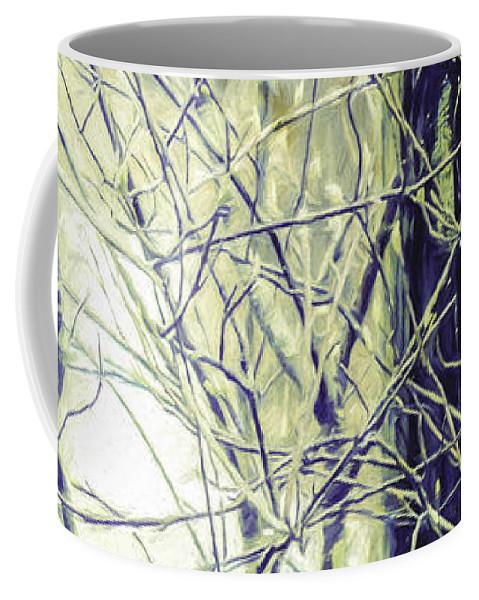 Fence Coffee Mug featuring the photograph Old Fence Post by Jean OKeeffe Macro Abundance Art