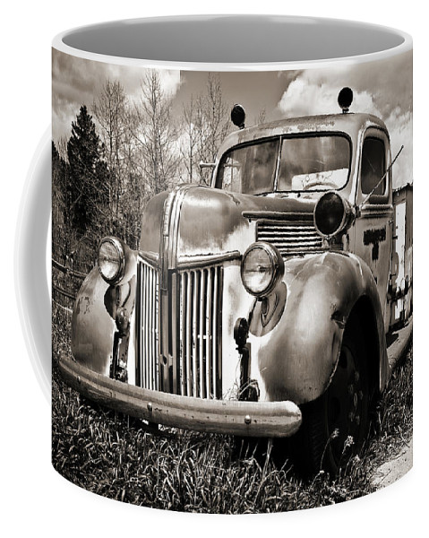 Americana Coffee Mug featuring the photograph Old Firetruck by Marilyn Hunt