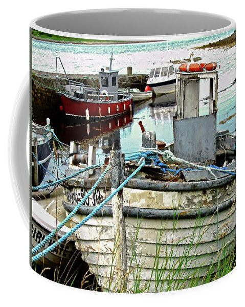 Boats Coffee Mug featuring the photograph Old Fishing Boats by Stephanie Moore