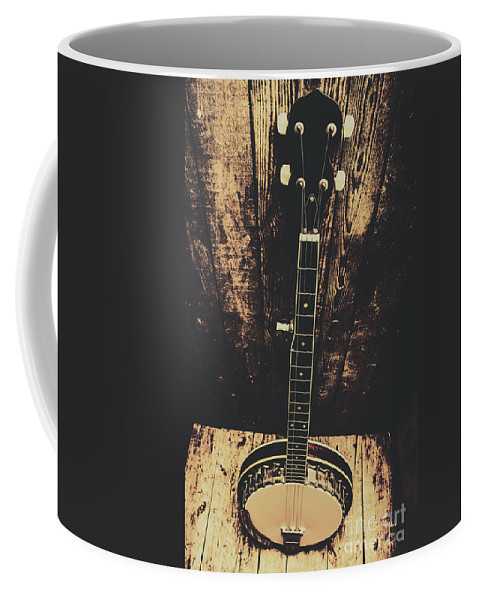 Old Folk Music Banjo Coffee Mug