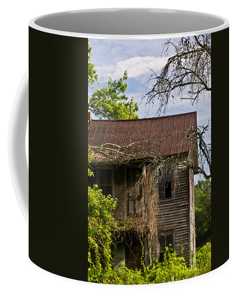 Old Coffee Mug featuring the photograph Old Forgotten Farm House by Douglas Barnett