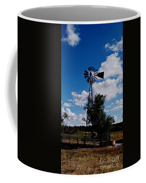 Texas Windmill Coffee Mug featuring the photograph Windmill Color by Susan Gahr