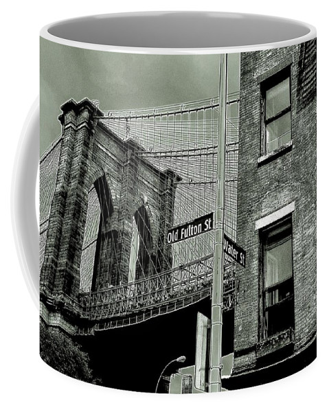Brooklyn Coffee Mug featuring the photograph Old Fulton And Water Streets 2 by Jeff Watts