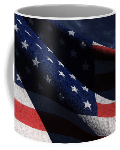 Us Flags Coffee Mug featuring the digital art Old Glory 2 by Richard Rizzo