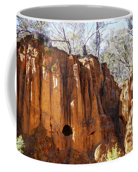 Hill End Series By Lexa Harpell Coffee Mug featuring the photograph Old Gold Mine Shafts by Lexa Harpell
