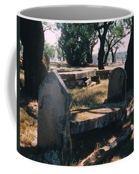 Grave Old Cementery Rocks Coffee Mug featuring the photograph Old Grave by Cindy New