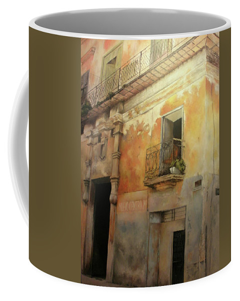 Havana Cuba Coffee Mug featuring the painting Old Havana by Tomas Castano